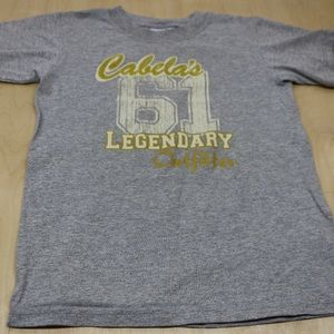 Cabela's Boys S Grey Short Sleeve Tee